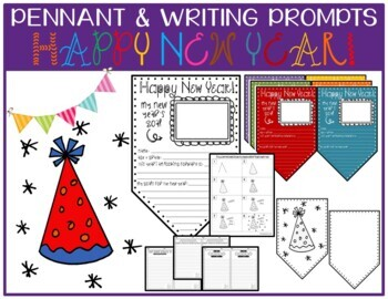 New Year Pennant Worksheets Teaching Resources Tpt