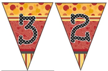 HAPPY Numbers 0 - 9  -   Pennants