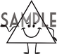HAPPY SHAPES in white clipart
