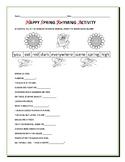 HAPPY SPRING RHYMING ACTIVITY: GRADES 3-6, ESL