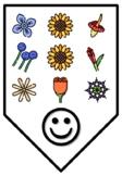 HAPPY SPRING!, Spring Bulletin Board Letters, Pennants, Banner, Buntings