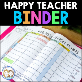 Editable TEACHER Binder, Forms, Lesson Plans, Lesson Planner, FREE Update 4 Life