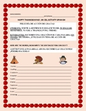 HAPPY THANKSGIVING ACTIVITY: ESL: SPANISH
