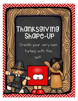 HAPPY THANKSGIVING SHAPE TURKEY CRAFTIVITIY FREEBIE