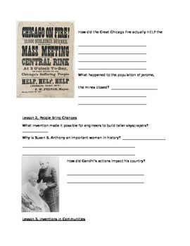HARCOURT S.S., Grade 3, Chapter 5- History Through Time and Place