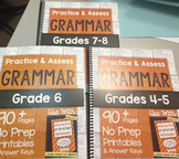*HARD COPY* Practice & Assess GRAMMAR Differentiation Bundle