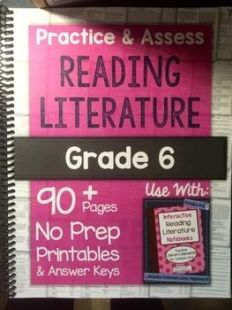 *HARD COPY* Practice & Assess READING LITERATURE Grade 6