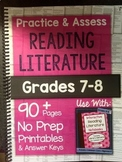 *HARD COPY* Practice & Assess READING LITERATURE Grades 7-8