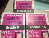*HARD COPY* Practice & Assess Reading Literature DIFFERENTIATION BUNDLE