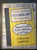 HARD COPY Interactive Vocabulary Notebooks