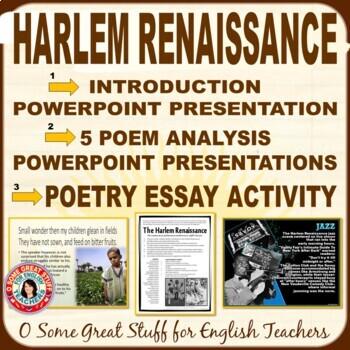 HARLEM RENAISSANCE Intro PowerPoint/Five Poet PowerPoints/Research Activities