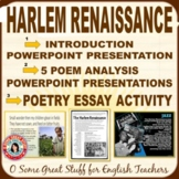HARLEM RENAISSANCE Intro PowerPoint/Five Poet PowerPoints/Research Activities