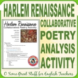 HARLEM RENAISSANCE POETRY Collaborative Project and Presentation