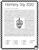 HARMONY DAY 2018 word search sleuth