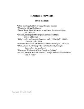 HARRIET POWERS ART LESSON