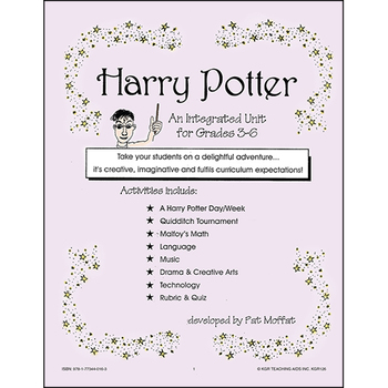 HARRY POTTER - AN INTEGRATED UNIT Gr. 3-6