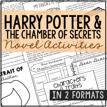 HARRY POTTER AND THE CHAMBER OF SECRETS Novel Unit Study Activities