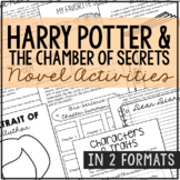 HARRY POTTER AND THE CHAMBER OF SECRETS Novel Study Unit Activities, Book Report