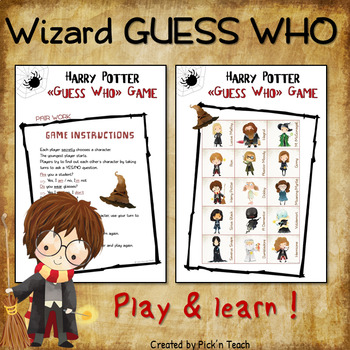 Harry Potter Themed Guess Who Game By Pickn Teach Tpt