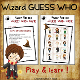 """HARRY POTTER - themed """"Guess Who"""" - Game"""