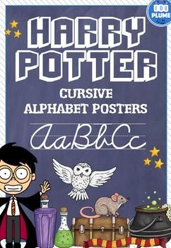 HARRY POTTER THEMED CURSIVE ALPHABET POSTERS