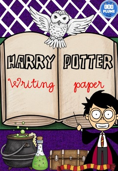HARRY POTTER WRITING PAPER - COLORBOOK BORDERS