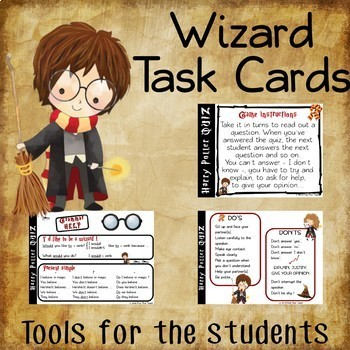 Harry Potter - Task cards - Are you a true HARRY POTTER fan ?