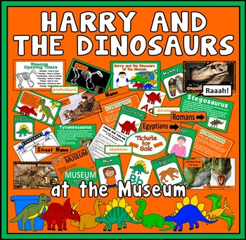 HARRY & THE DINOSAURS AT THE MUSEUM STORY -EYFS KS1 ENGLISH SCIENCE HISTORY