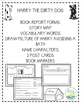 HARRY THE DIRTY DOG BOOK REPORT FORMS