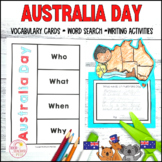 HASS Australia Day Activity Pack Literacy Activities, Posters and Vocabulary