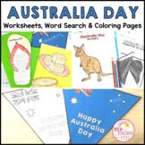 Australia Day Activity Pack Worksheets Display Materials Activities BTSDOWNUNDER