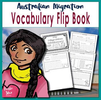 HASS Australian History Migration Vocabulary Flip Book