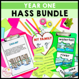 Geography and History Bundle aligned to Australian Curriculum HASS Year 1