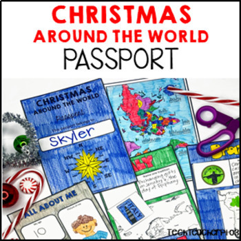 Christmas Around the World ** Passport ** Maps, Stamps & Booklet GROWING PACK