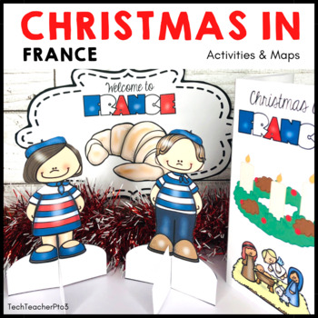 Christmas Around the World FRANCE Maps Flags Information Cards and Recipe