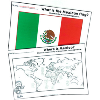 Christmas Around the World ** Mexico ** Maps, Flags, Information Cards & Recipe