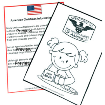 Christmas Around the World UNITED STATES Maps Flags Information and Recipe