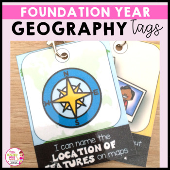 HASS Geography Brag Tags & Goal Sheet for Foundation Year linked to ACARA