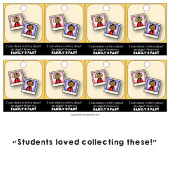 History Brag Tags and Goal Sheet for Foundation Year Australian Curriculum
