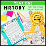 History Year 1 Australian Curriculum HASS