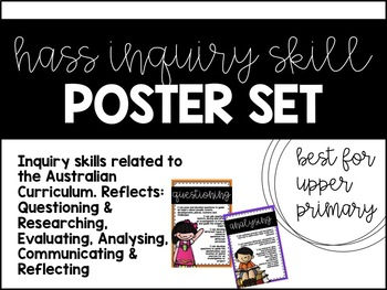 HASS Inquiry Skill Posters for Upper Primary