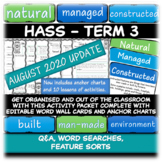 HASS | NATURAL MANAGED CONSTRUCTED | WORD WALL | ACTIVITIES | GEOGRAPHY
