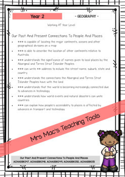 HASS  - Report Writing Comments - Year 2 - Australian Curriculum