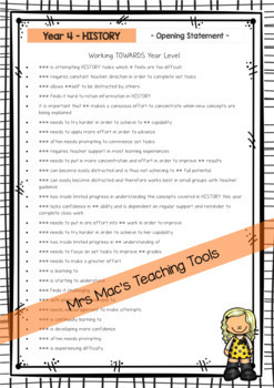 Geography - History - HASS - Australian Curriculum - Report Writing - Year 4