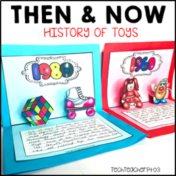 Then and Now Social Studies History of Toys 1950 to 2000 Research Pack