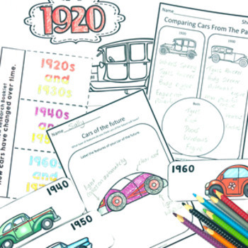 Then and Now Social Studies History of Transport Cars