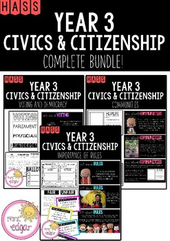 HASS | Year 3 Civics and Citizenship: COMPLETE BUNDLE