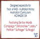 HASS Year 6 Australian History - Women's Suffrage Vocabula