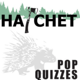 HATCHET 14 Pop Quizzes Bundle (by Gary Paulsen)