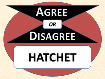HATCHET - Agree or Disagree Pre-reading Activity